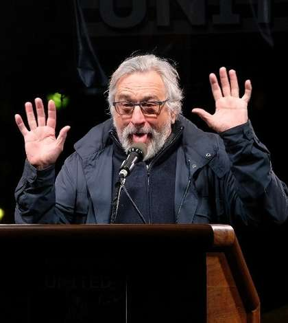 Actorul Robert De Niro îl ironizează pe Donald Trump (Foto: D Dipasupil/GETTY IMAGES NORTH AMERICA/AFP)